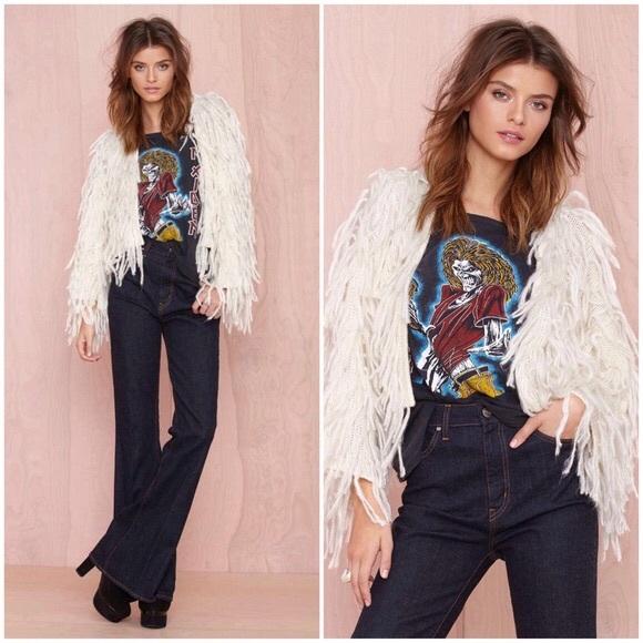 Nasty Gal Jackets & Blazers - Nasty Gal 'For Sienna' Mongolian Fur Shag Coat